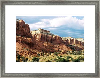 Ghost Ranch Hills Framed Print by Diana Davenport