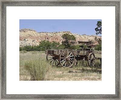 Ghost Ranch Framed Print by Mary Rogers