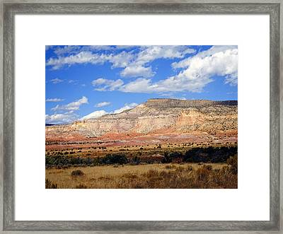 Framed Print featuring the photograph Ghost Ranch New Mexico by Kurt Van Wagner