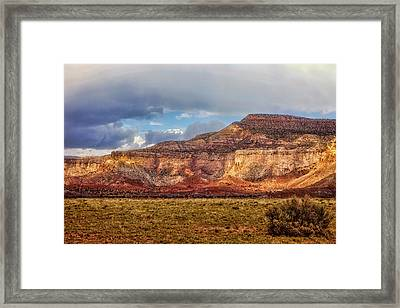 Ghost Ranch Red Framed Print