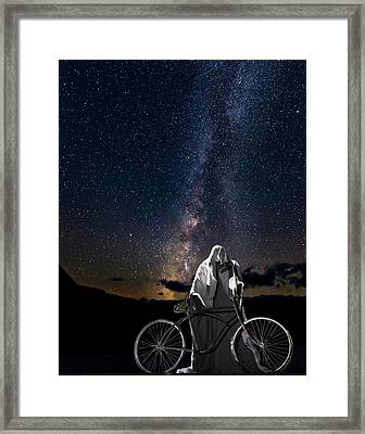 Ghost Rider Under The Milky Way. Framed Print