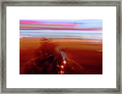 Ghost Rider Framed Print by Venetta Archer