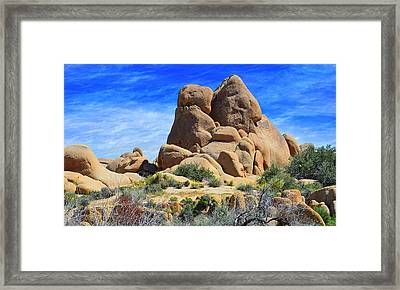 Framed Print featuring the photograph Ghost Rock - Joshua Tree National Park by Glenn McCarthy Art and Photography