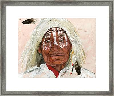 Ghost Shaman Framed Print by J W Baker
