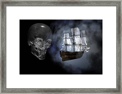 Ghost Ship Framed Print by Claude McCoy