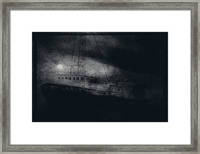 Ghost Ship Framed Print by Jim Cook