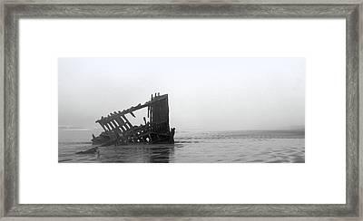 Ghost Ship Framed Print by Joseph Skompski