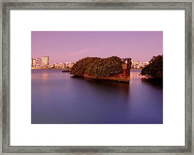 Ghost Ship Framed Print