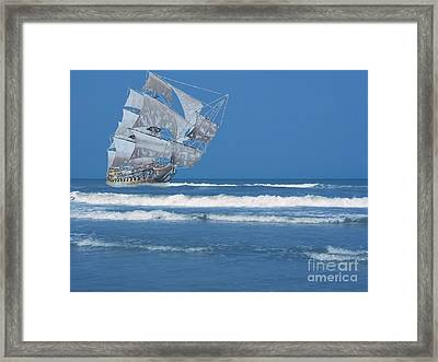 Ghost Ship On The Treasure Coast Framed Print