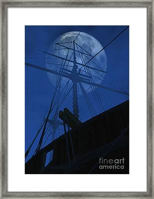 Ghost Ship Framed Print by Richard Rizzo