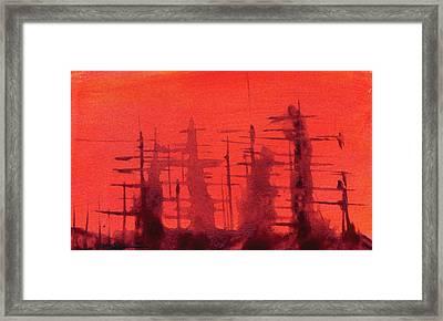 Ghost Ships Framed Print