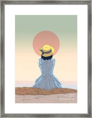 Ghost Shower Framed Print