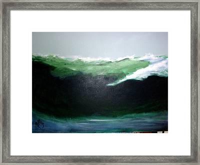 Ghost Surfer Framed Print