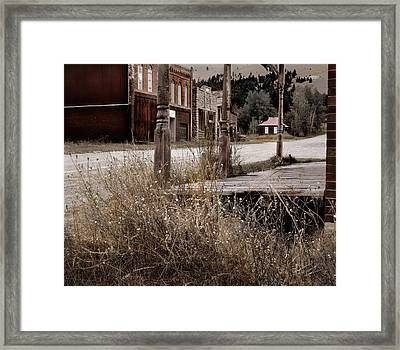 Ghost Town 2 Framed Print by Leland D Howard