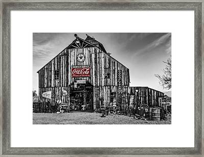 Ghost Town Barn Bw Framed Print