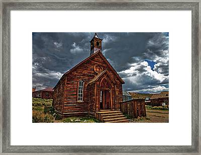 Ghost Town Church Framed Print by Nathaniel Grant