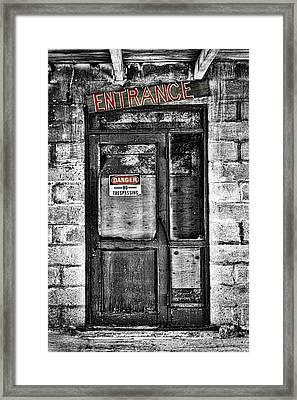 Ghost Town Door Framed Print