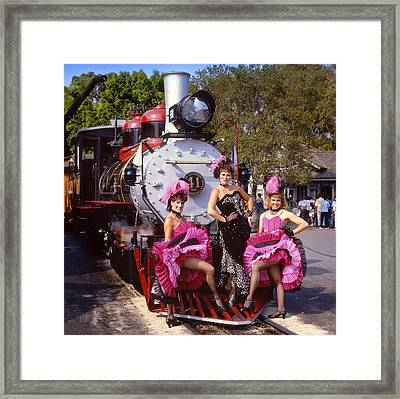 Ghost Town Girls Framed Print