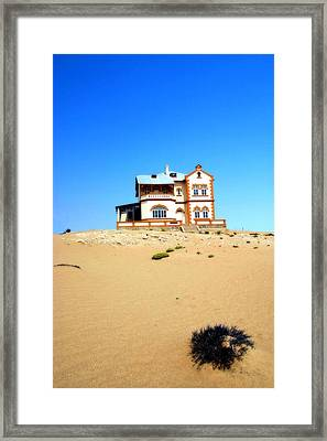 Framed Print featuring the photograph Ghost Town Namibia by Riana Van Staden