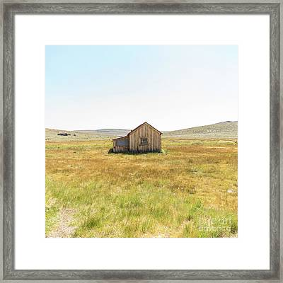 Ghost Town Of Bodie California Dsc4408sq Framed Print by Wingsdomain Art and Photography
