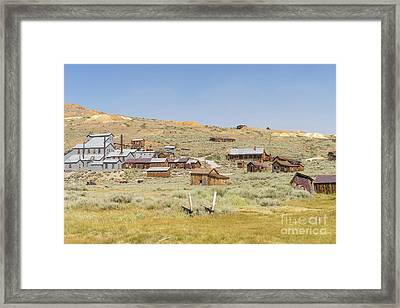 Ghost Town Of Bodie California Dsc4415 Framed Print by Wingsdomain Art and Photography