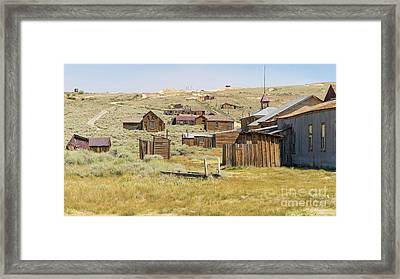 Ghost Town Of Bodie California Dsc4427 Framed Print by Wingsdomain Art and Photography