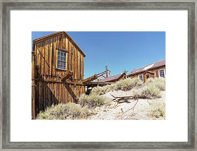 Ghost Town Of Bodie California Dsc4441 Framed Print by Wingsdomain Art and Photography