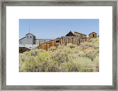 Ghost Town Of Bodie California Dsc4451 Framed Print by Wingsdomain Art and Photography