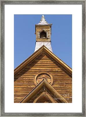 Ghost Town Of Bodie California Methodist Church Dsc4353 Framed Print by Wingsdomain Art and Photography