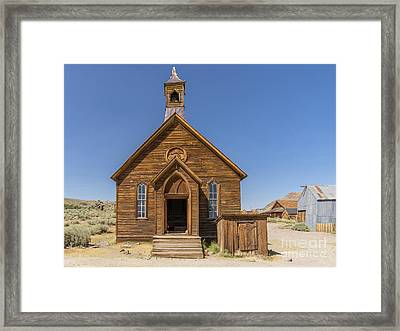 Ghost Town Of Bodie California Methodist Church Dsc4473 Framed Print by Wingsdomain Art and Photography
