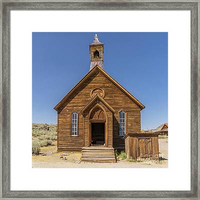 Ghost Town Of Bodie California Methodist Church Dsc4473sq Framed Print by Wingsdomain Art and Photography