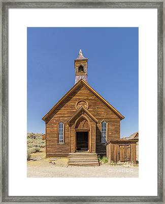 Ghost Town Of Bodie California Methodist Church Dsc4474 Framed Print by Wingsdomain Art and Photography
