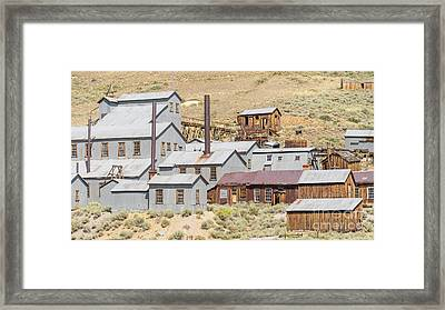 Ghost Town Of Bodie California Standard Stamp Mill Dsc4416 Framed Print by Wingsdomain Art and Photography