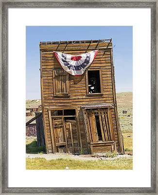 Ghost Town Of Bodie California Swasey Hotel Dsc4371 Framed Print by Wingsdomain Art and Photography