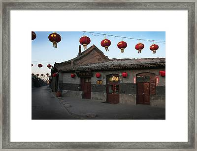Ghost Town On The Eve The Chinese New Year Framed Print
