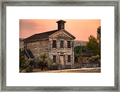 Ghost Town School House Framed Print