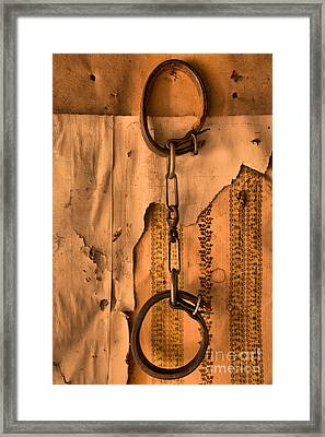 Ghost Town Shackles Framed Print