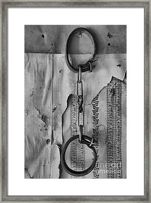 Ghost Town Shackles Black And White Framed Print