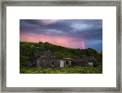 Ghost Town Sunset 3 Framed Print
