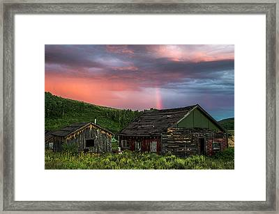 Ghost Town Sunset 4 Framed Print