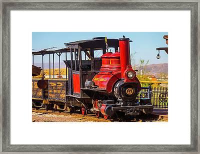 Ghost Town Train Framed Print