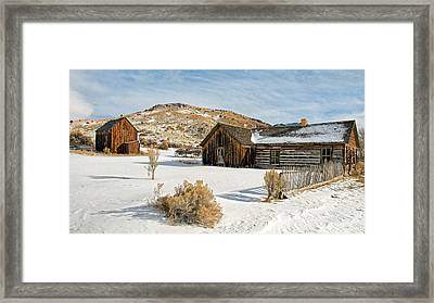 Ghost Town Winter Framed Print