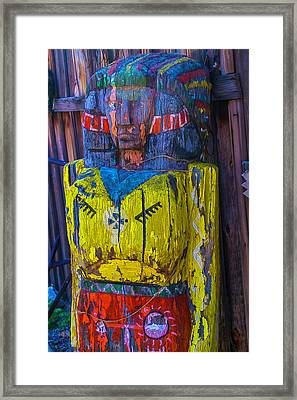 Ghost Town Wooden Indian Framed Print