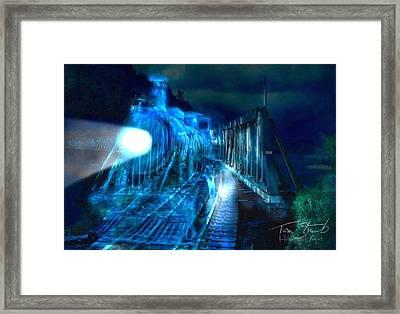 Ghost Train Bridge Framed Print by Tom Straub