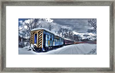 Ghost Train In An Existential Storm Framed Print