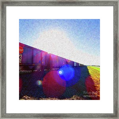 Ghost Train To Glory Framed Print by Desiree Paquette