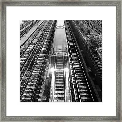 Framed Print featuring the photograph Ghost Train Vienna by Chris Feichtner