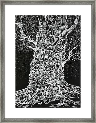 Ghost Tree Framed Print by Charles Cater
