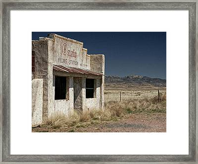 Ghost Way Station Oasis Framed Print