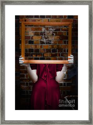 Ghost With Picture Frame Framed Print